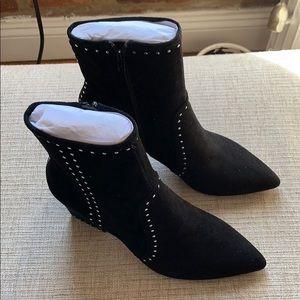 Loeffler Randall black studded Isla boots.